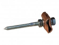 Держатель/соединитель прутка фасадный, L=100 мм (медь)