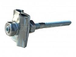 Держатель/соединитель прутка фасадный, L=100 мм (оцинкованная сталь)