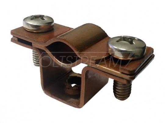 Фасадный держатель проводника 8-10 мм, медь