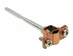 Фасадный держатель проводника L=100 мм, медь