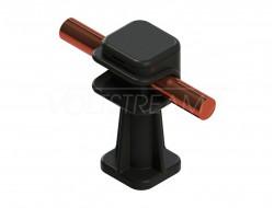 Пластиковый держатель круглого проводника - коричневый