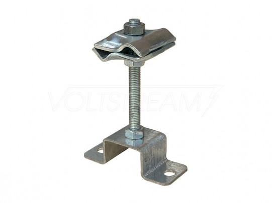 Соединитель прутка 8-10 мм опорный (H=100 мм), оцинкованная сталь