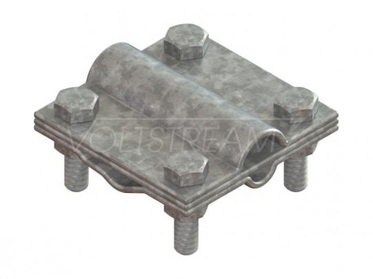 Зажим полоса/провод-полоса/провод, оцинкованная сталь