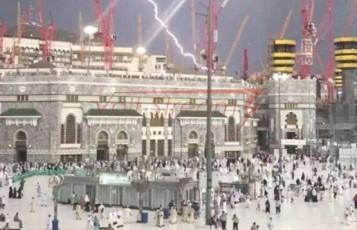 Удар молнии привел к обрушению башенного крана в Мекке